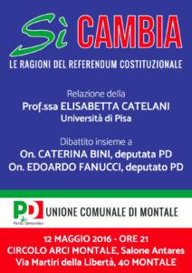 Iniziativa 12 maggio - riforma costituz - PD Montale